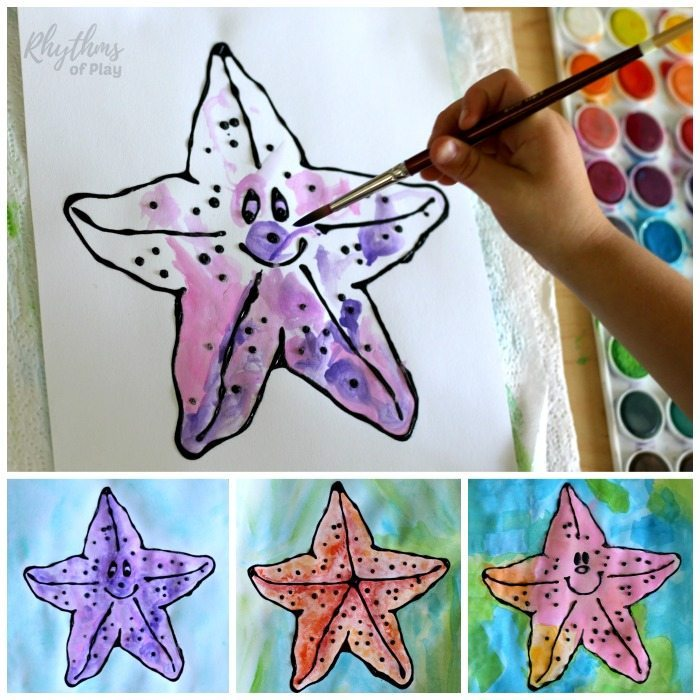 How to paint a starfish