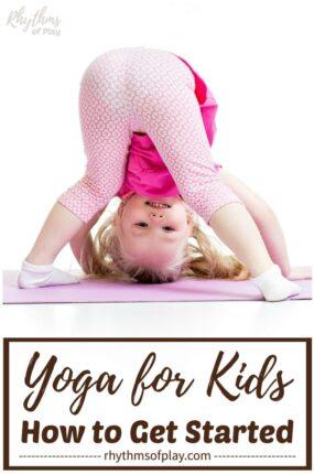 yoga for kids - toddler yoga downward dog