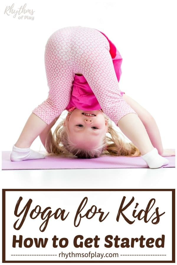 Toddler doing yoga for kids in downward dog position