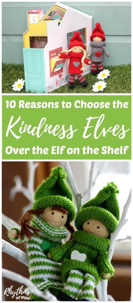 The Kindness Elves are a refreshing variation on the Elf on the Shelf nightmare. They encourage children to commit small acts of kindness in service to others during the holidays and at other times of the year.