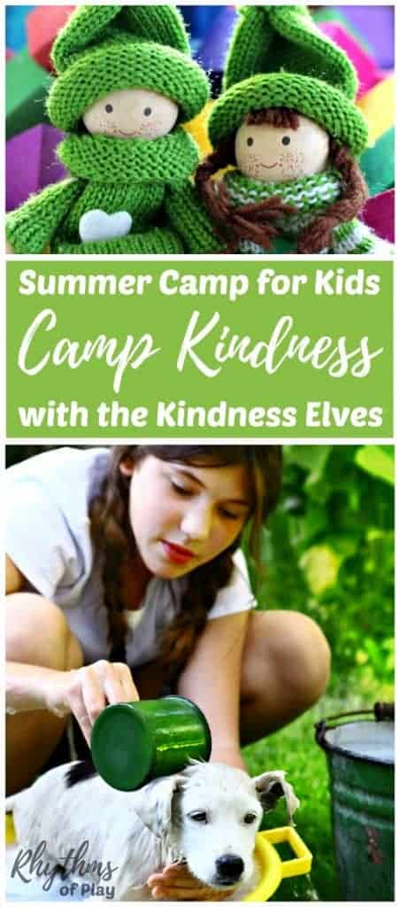 Camp Kindness summer camp for kids can be done at home or with a school or church group or camp over the summer break. The focus is on teaching empathy and kindness with the magic of the Kindness Elves.