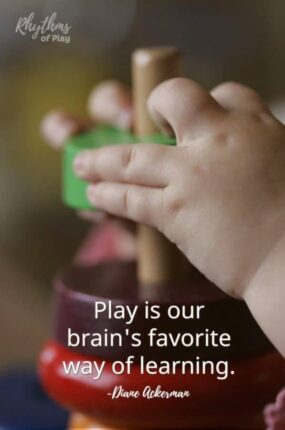 """Best eco baby toys - """"Play is our brain's favorite way of learning."""""""