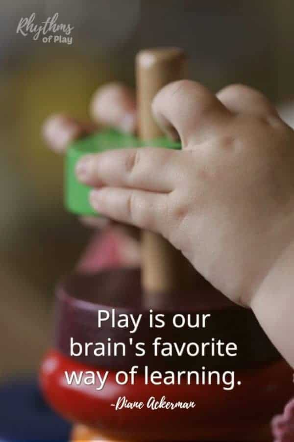 "Best eco baby toys - ""Play is our brain's favorite way of learning."""