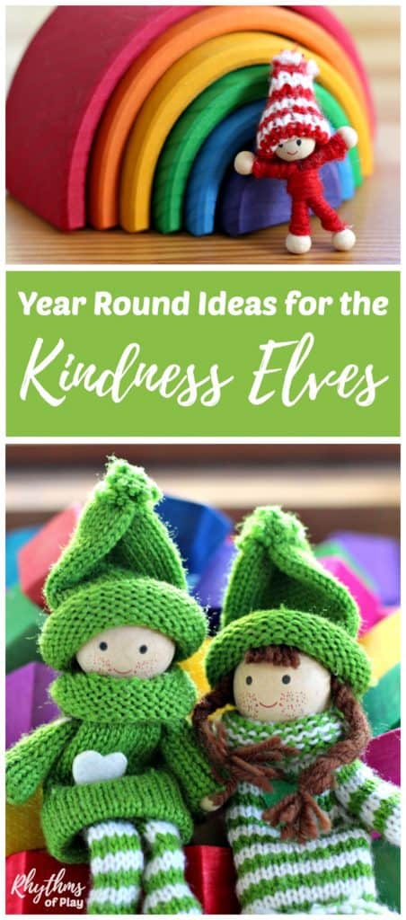 Use Kindness Elves to Encourage kindness all year. Includes fun and easy kindness activities for kids with tips and ideas for encouraging acts of kindness with the Kindness Elves year round!