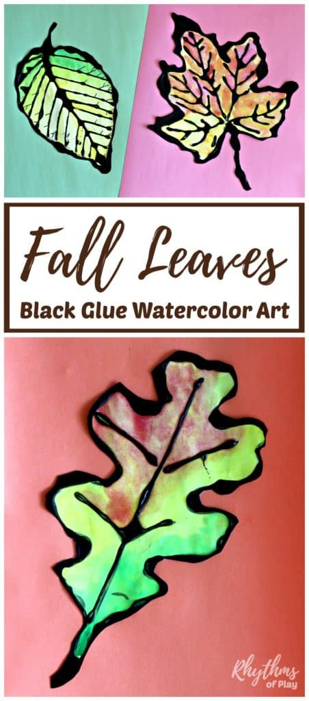 Fall leaves art - maple leaf, beech leaf and oak leaf art templates.