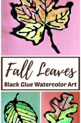 fall leaf art project idea for kids and adults.
