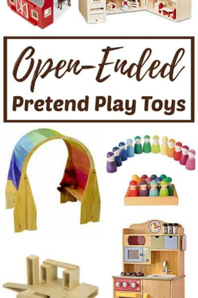 Open0-ended pretend play toys for creative dramatic play