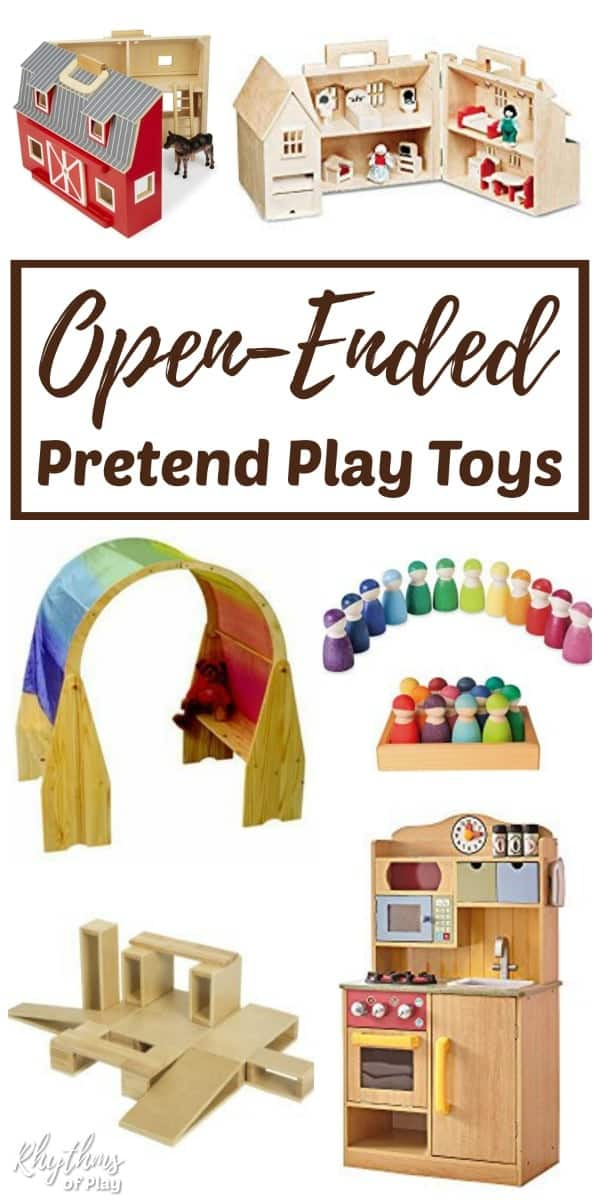 Open-ended pretend play toys for creative dramatic play