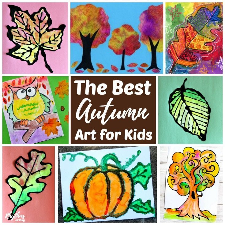 The best fall art projects for kids! Inside you will find easy art and painting ideas for fall leaves and autumn trees, pumpkins, scare crows and owls. These creative projects are perfect for an art class at home or in school.