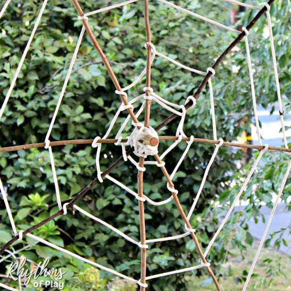 Halloween spider web decoration