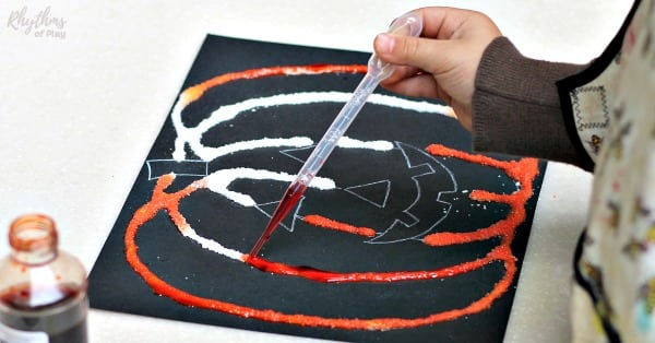Halloween pumpkin art project for kids