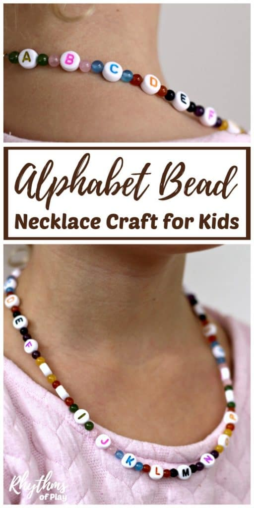 Alphabet bead necklace craft for kids rhythms of play for Necklace crafts for kids