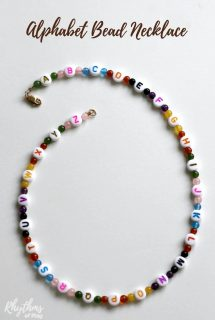 Alphabet Bead Necklace Craft for Kids