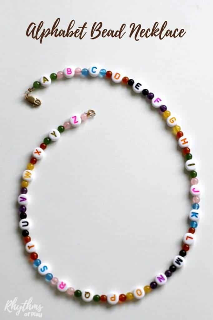 Alphabet Bead Necklace Craft For Kids Rhythms Of Play