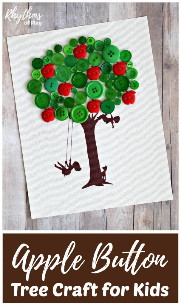 Apple tree craft and gift idea kids can make a teacher.