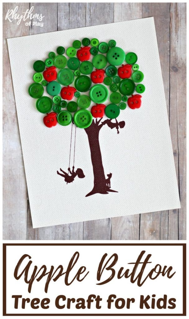 Apple Button Tree Craft for Kids