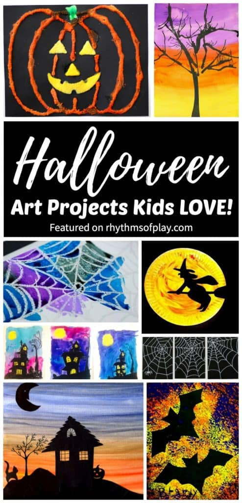 Halloween art projects and painting ideas for kids.