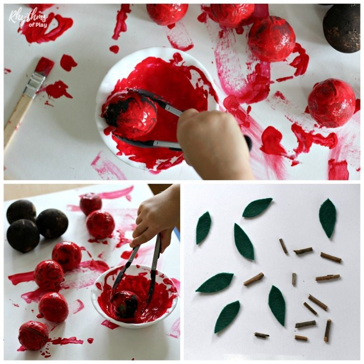 Oak applenature craft for kids and adults. Add a rustic touch to your home decor this fall with a DIY nature craft that you and the kids can make together!