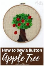 How to Sew a Button Apple Tree