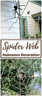 Giant Stick Spider Web Halloween Decoration