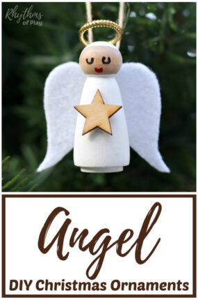 DIY Angel Christmas Ornament Kids and Adults can make