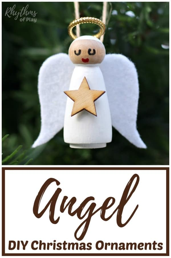 Angel Ornaments For Christmas Tree.Diy Wooden Angel Christmas Ornaments Rhythms Of Play
