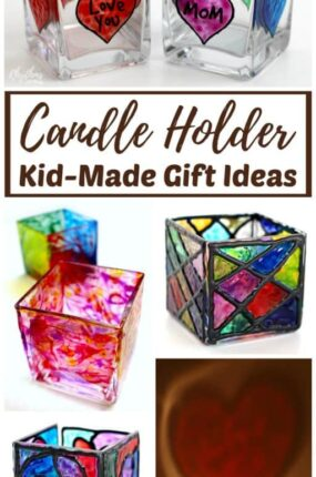 This fun collection of hand-painted candle holders kid-made gift ideas make gift giving easy. Use the children's book inspired hack to help you motivate the kids to get started with this gorgeous collection of homemade gift ideas for friends and family!