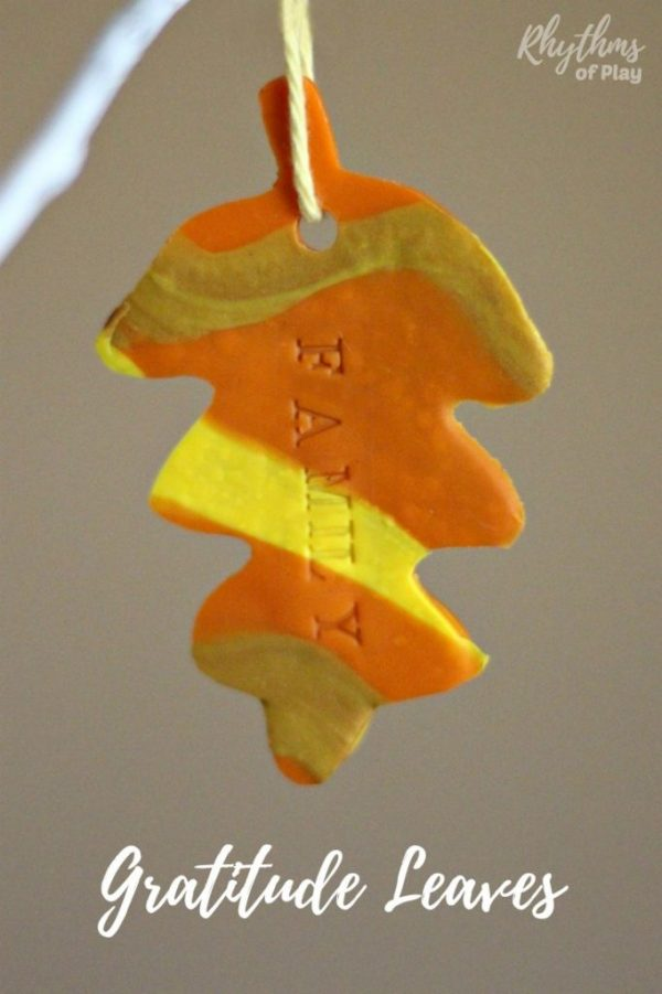 Gratitude leaf ornaments - Thanksgiving craft