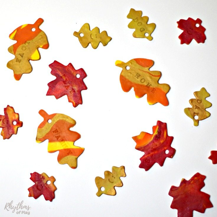 An easy Thanksgiving craft for kids, teens and their parents too! Teach your children about thankfulness by making some gratitude leaves for your thankful tree, wreath, or garland.Teaching children to be grateful for what they have opens the space for abundance to flow into their lives. Make some today!