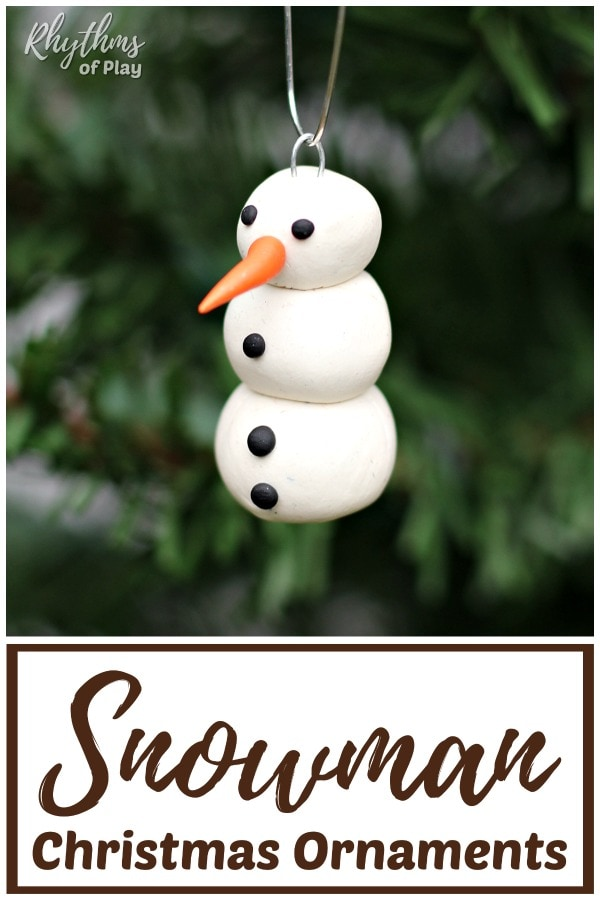 clay snowman Christmas ornaments