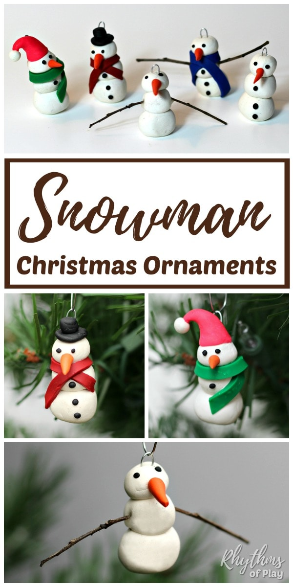 How to make clay snowman ornaments
