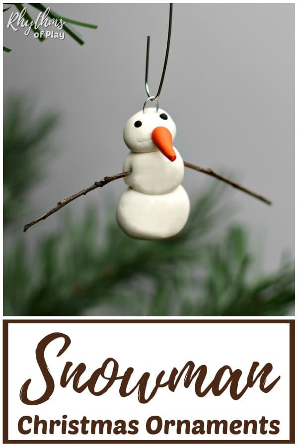 Homemade snowman ornaments polymer clay crafts