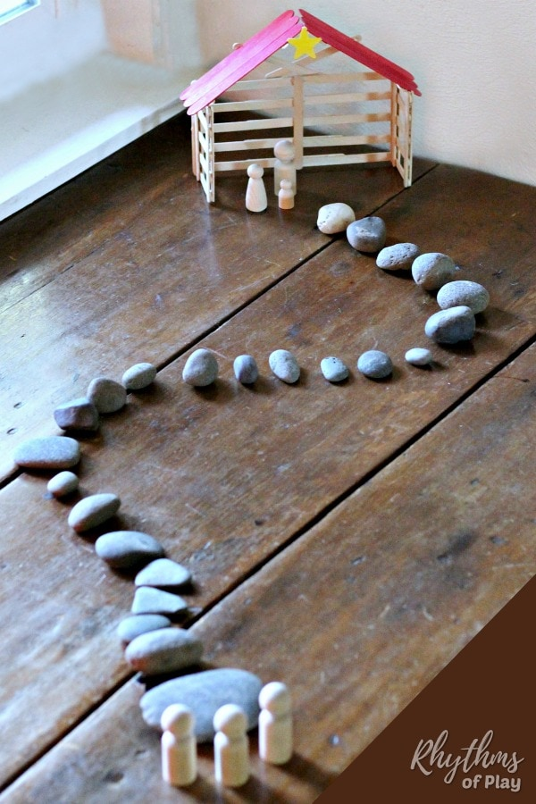 simple stone advent calendar Christmas countdown