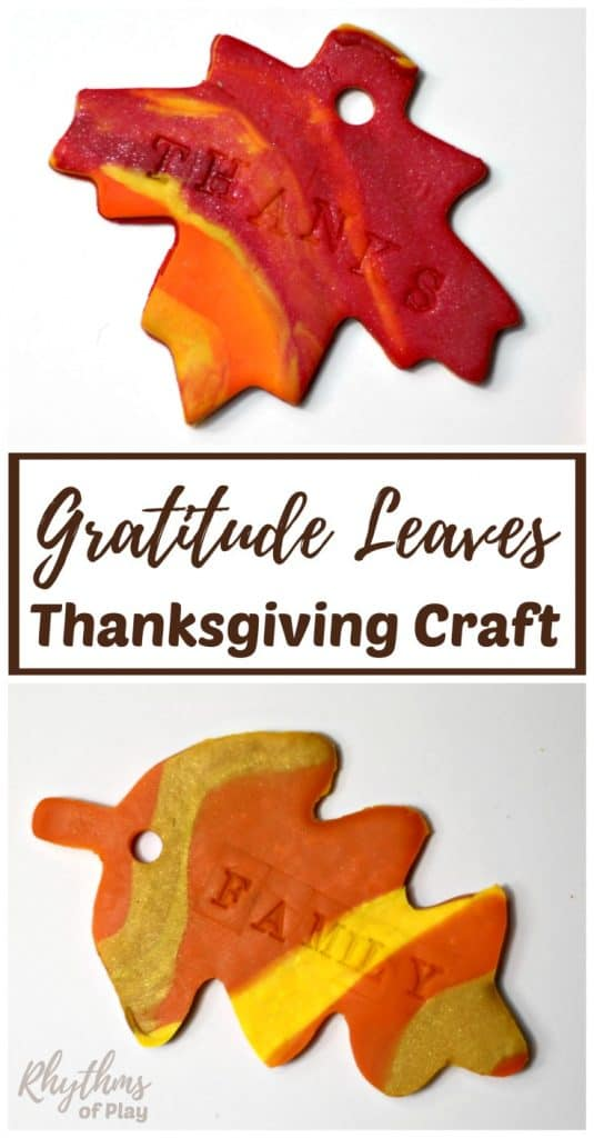 An easy Thanksgiving gratitude craft for your thankful tree, wreath or garland.