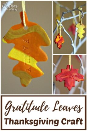How to make marbled clay gratitude leaves