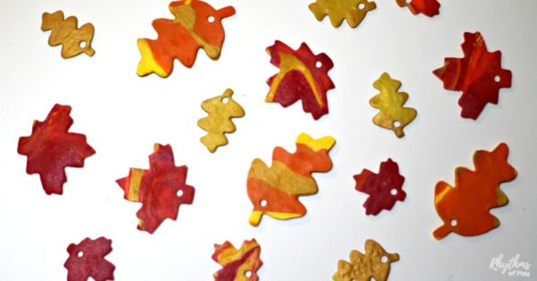 Fall leaf crafts - how to make polymer clay leaves