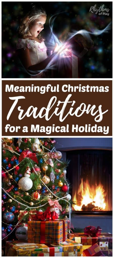 Christmas Tradition ideas to start. Creating meaningful family Christmas Traditions makes the holiday season a magical time of year. It's the old fashioned traditional things we do with our families that hold the greatest meaning and create the most vivid memories.