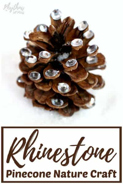Rhinestone pinecone crafts for kids and adults