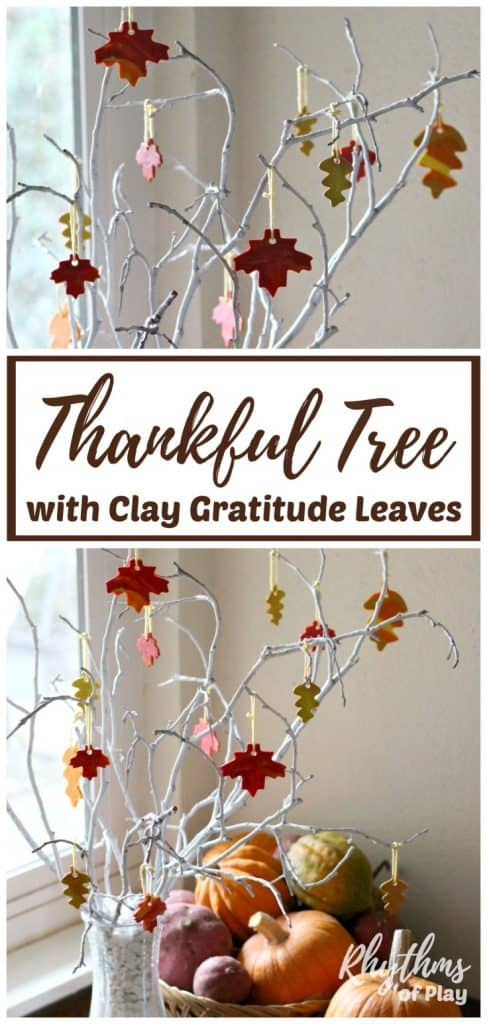 Learn how to make a thankful tree with clay gratitude leaves to remind your family of the true meaning of Thanksgiving.