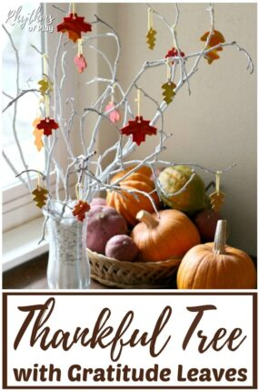 make a DIY Thanksgiving gratitude tree with clay leaves