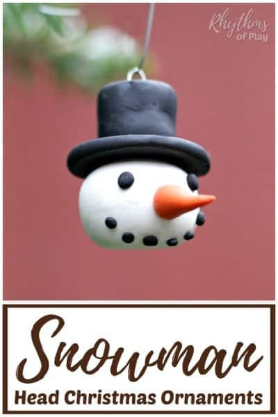 snowman head ornaments kids and adults can make