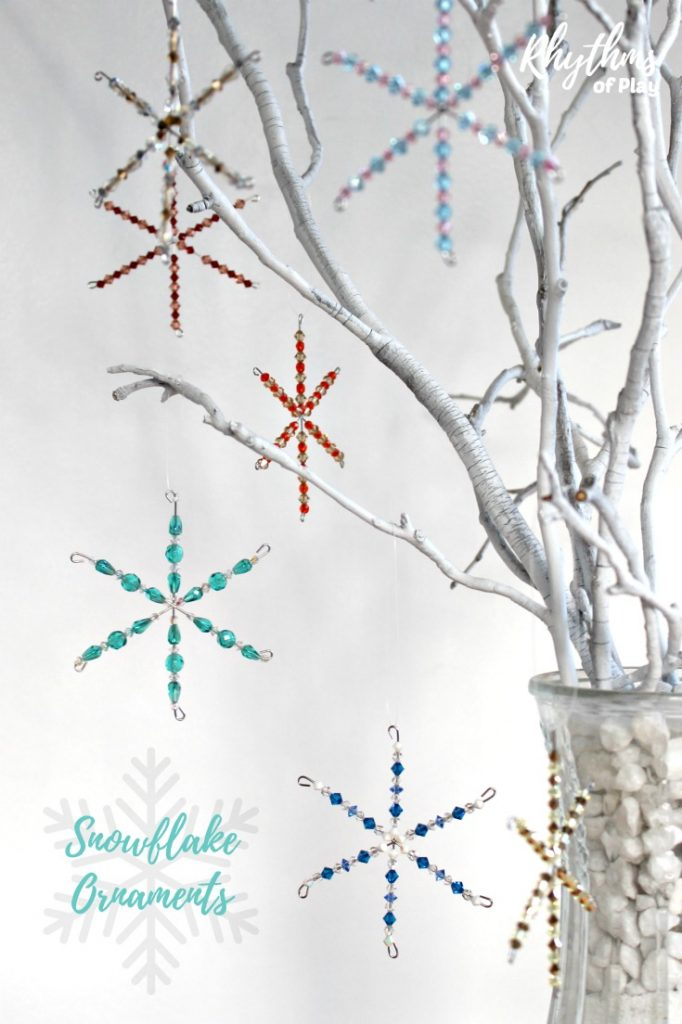 How to Make Beaded Snowflake Ornaments