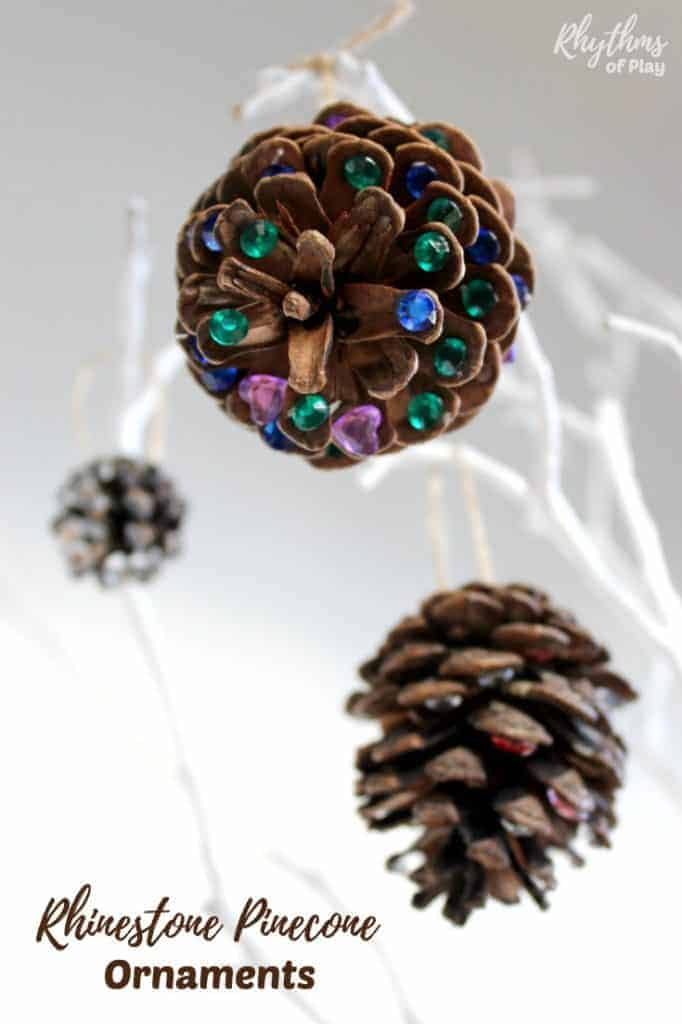 Rhinestone Pinecone Ornaments