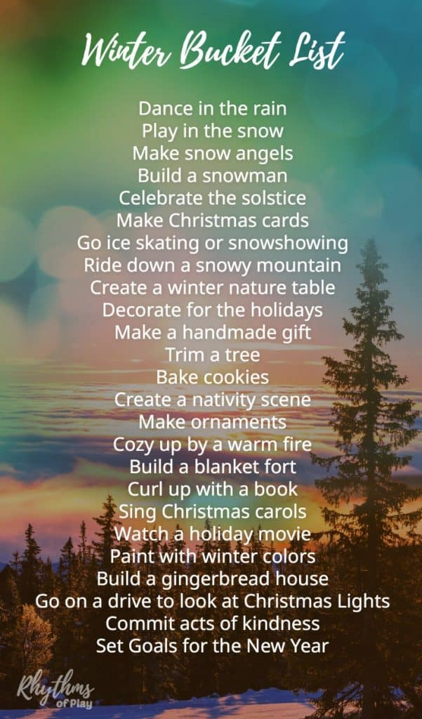 Winter bucket list family guide for the best season ever! The ultimate seasonal winter activity, art, and craft guide for kids and families! Make handmade Christmas cards, holiday gifts, and build a snowman--ornament!