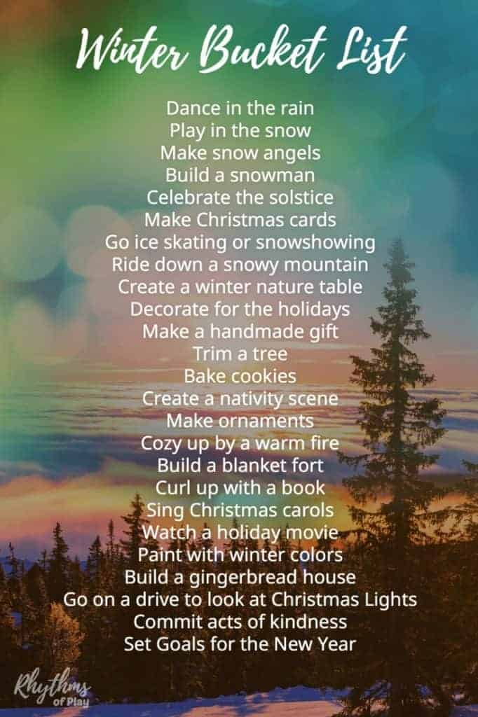 Winter Bucket List Family Guide For Seasonal Activities Arts And Crafts Rhythms Of Play