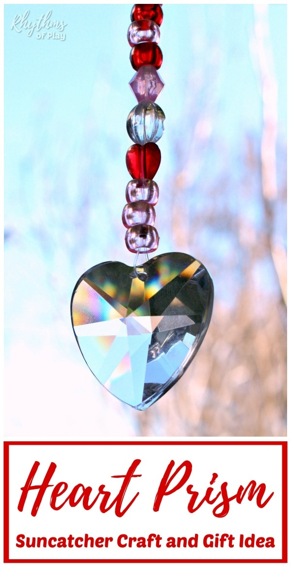 hanging hearts suncatcher prism crafts and gift ideas