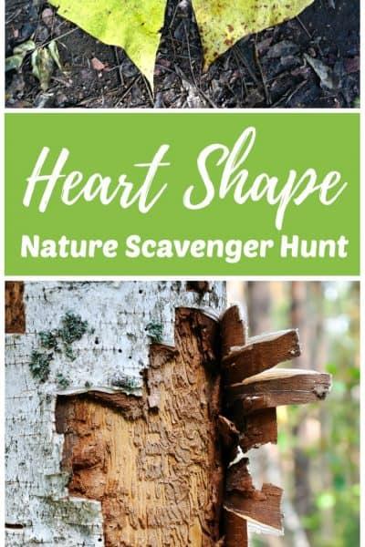 Heart Shape Nature Scavenger Hunt