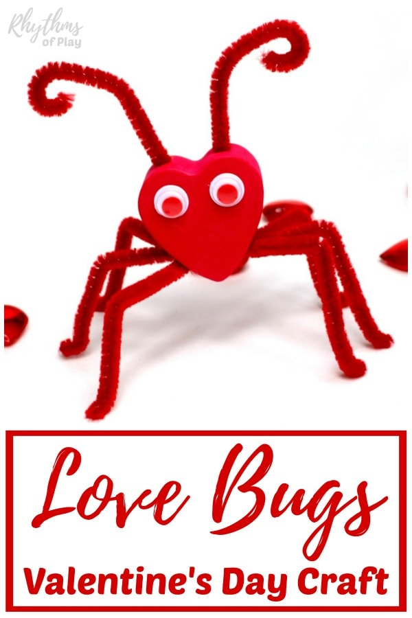 Love bug craft for Valentine's Day