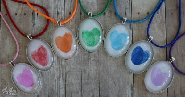 Rainbow fingerprint necklaces