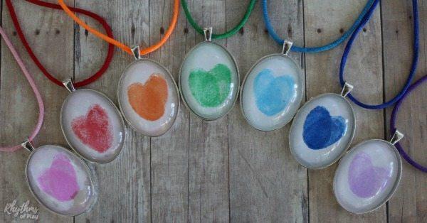 Rainbow fingerprint necklaces